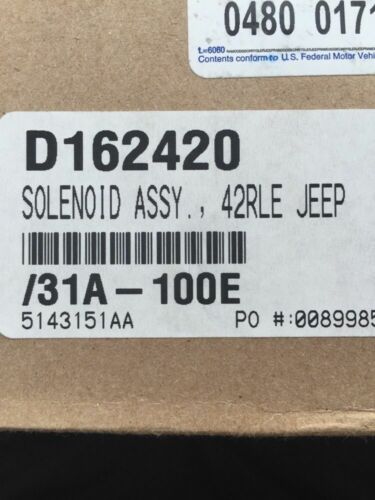 42RLE Shift Solenoid Pack Block Dodge Chrysler Automatic Transmission