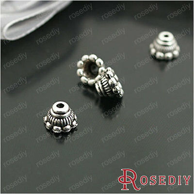 (26931)Vintage Beads Findings,Antique Silver Alloy Bead Caps-Small petals 100PCS