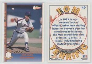 Details About 1992 Pacific Terrific 49 Tom Seaver New York Mets Baseball Card