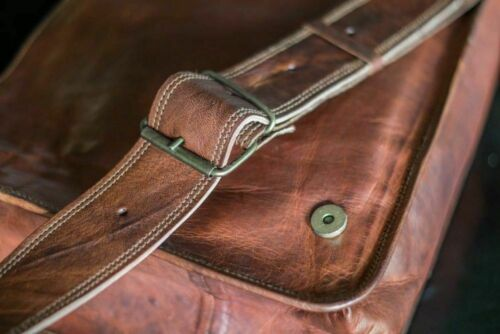 Women/'s Vintage Brown Leather Messenger Full Flap Cross Body Purse Handmade Bag