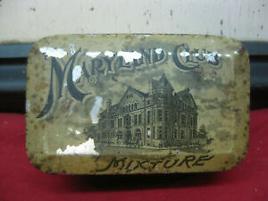 ANTIQUE-VINTAGE-MARYLAND-CLUB-MIXTURE-TOBACCO-TIN-IN-USED-CONDITION