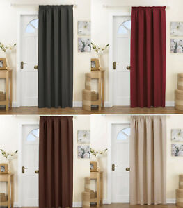 Image Is Loading Thermal Door Curtain Kent Grey Red Natural Or
