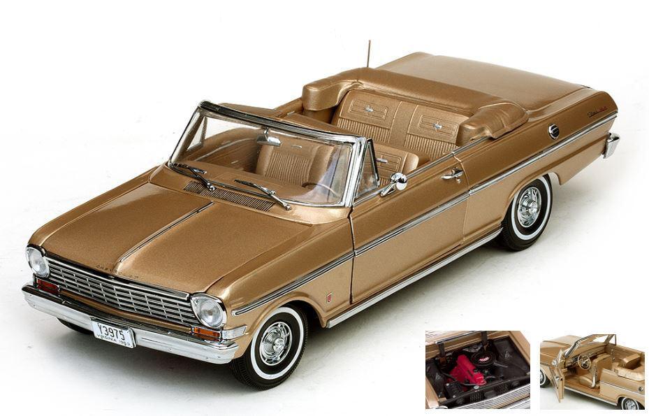 Chevrolet Nova Open Convertible 1963 Saddle Tan 1:18 Model 3975 SUN STAR