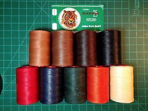 Tiger Thread-pour La Main à Coudre En Cuir-julius Koch - 1.0mm- Ritza 25-afficher Le Titre D'origine