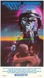 THX-1138-MOVIE-POSTER-RARE-1980S-VIDEO-GEORGE-LUCAS-of-Star-Wars-Fame1971-SCI-FI