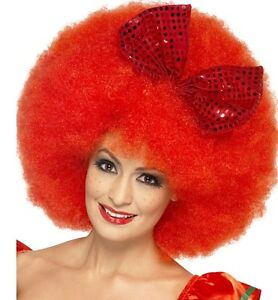 Donna-Clown-MEGA-PARRUCCA-AFRO-DA-CARNEVALE-retail-in-scatola-Nuovo-Da-Smiffys