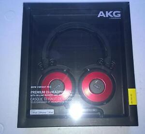 Kopfhoerer-AKG-K-619-DJ-On-Ear-Mikrofon-Mikro-Farbe-Rot-Red-Neu-OVP-Rechnung