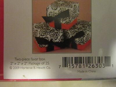 Ivory Hortense B 25 Count Hewitt Wedding Accessories 2-Inch Die Cut Decorative Favor Boxes