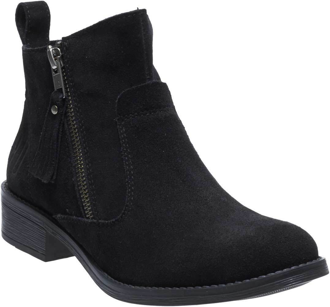 Harley-Davidson Women's Melita 6.25-Inch Black Suede Leather Ankle Boots D88812
