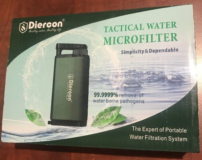 Tactical Water Filter Straw Purification System Pathogens Removal for Camping