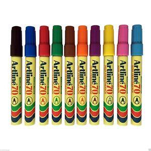 Artline-70-High-Performance-Permanent-Marker-Pens-1-5mm-Bullet-Nib-10-Colour-Pen
