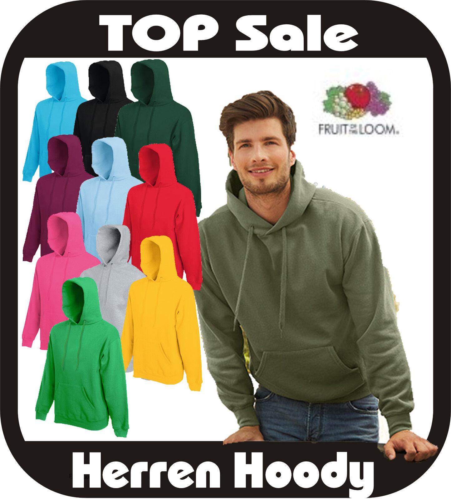 5x Kapuzensweatshirt Herren Pullover Hoody Fruit of the Loom 20 Farben