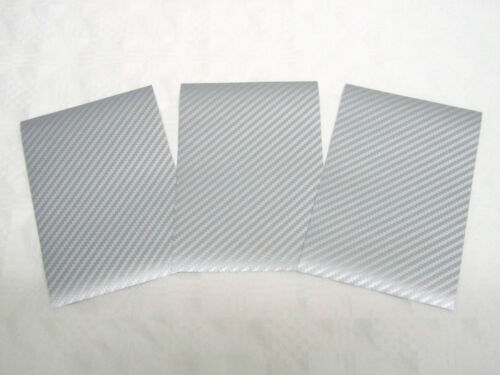Carbon Folie 3D Struktur Silber Matt Selbstklebend 3 Blatt Modellbau Tuning NEU