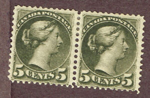CANADA-SMALL-QUEENS-38-F-VF-MH-PAIR-BER1-2