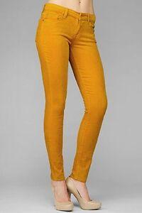32 Côtelé 30 For Pantalon Or Ambre Femmes Jeans Velours 7 Skinny 31 All Mankind Onqp8n4a