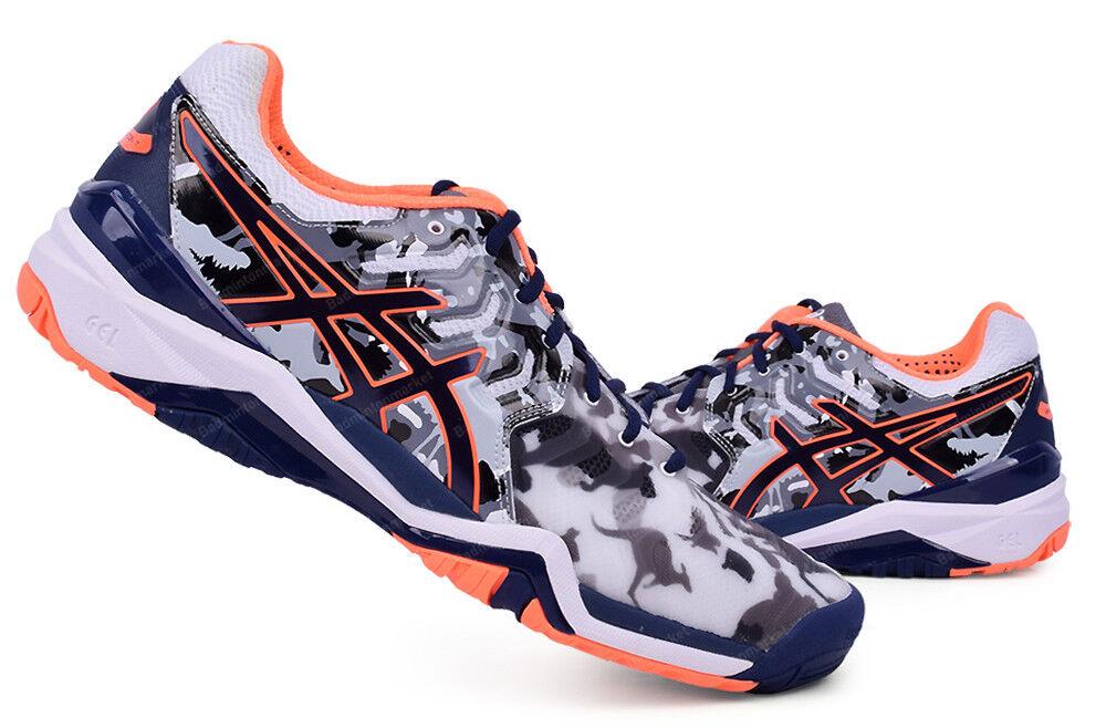 Asics Gel-resolución 7 L. E. Melbourne Zapatos Tenis Hombre Azul Marino gris E710Y-0149