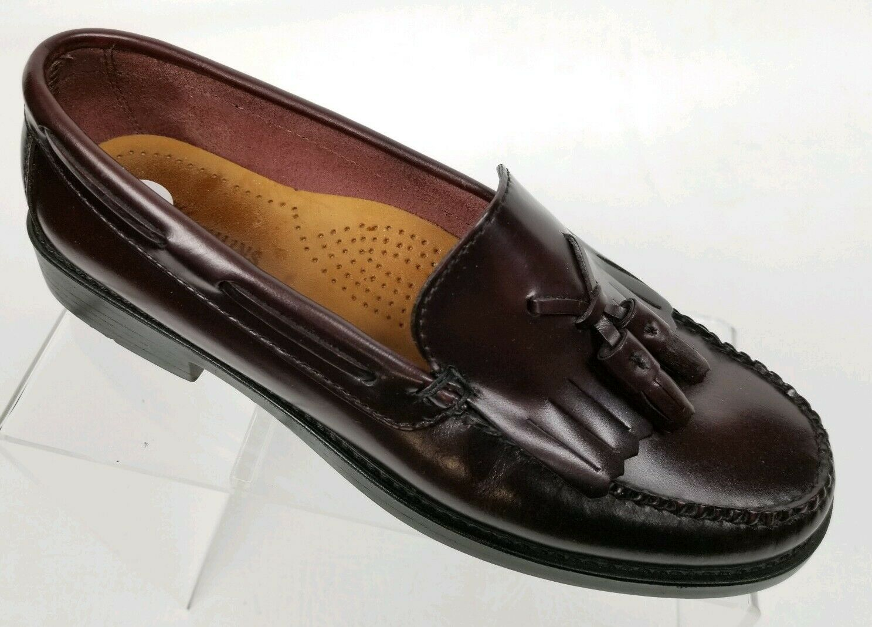 BASS Weejuns Marietta llI Women's Kiltie Tassel Loafers Burgundy Leather Sz 6.5M