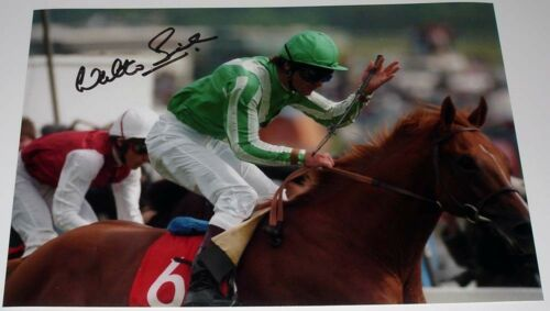WALTER SWINBURN HORSE RACING PERSONALLY HAND SIGNED 12X8 PHOTO LAMMTARRA