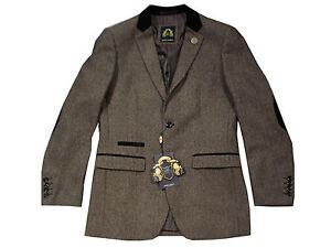 Tweed Darcy Moderno De Estilo Hombre Traje Marc Chaqueta xHqv0cUpw