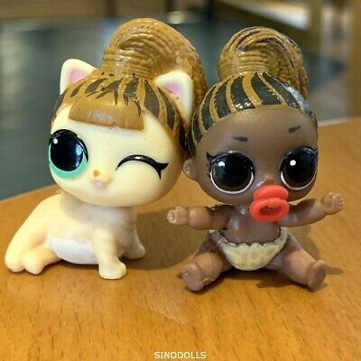 lol Surprise Doll series 4 Littlest Lil Sisters FIERCE Brown Children/'s Gift