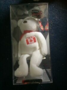 Ty Beanie Bear Maple Special Olympics authentifié dans une vitrine scellée