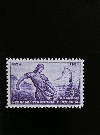 1954 3c Nebraska Territory, The Sower, 100th Anniversar