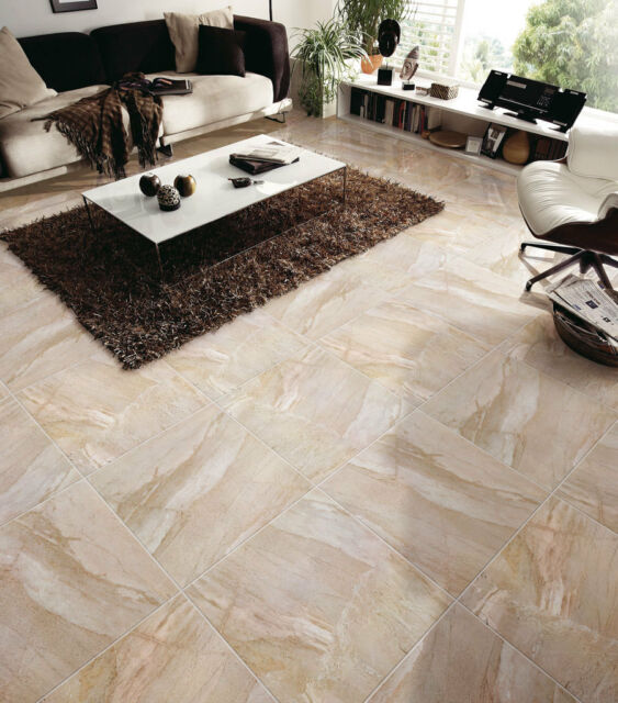 Glazed Inkjet Polished Porcelain Tile Rectified 24x24 Marble Look