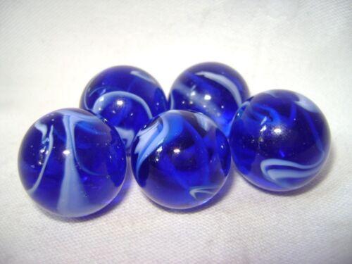 Neu 5 Tidal Wave 22mm Glasmurmeln Traditionell Spiel oder Sammlerstücke Hom