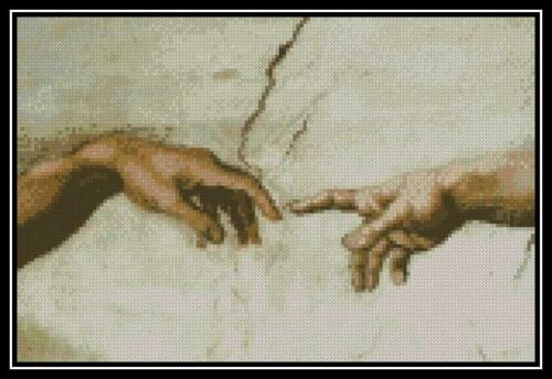Creation of Adam Cross Stitch Chart//Pattern//Design//XStitch