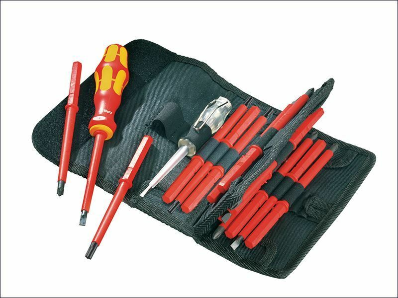 Wera - Kraftform VDE Kompakt Interchangeable Screwdriver Set of 16 SL PH PZ TX