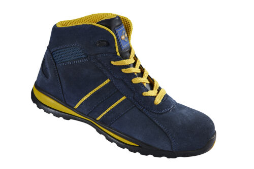 Pro Man PM4070 S1P SRC Navy Yellow Steel Toe Cap Hiker Style Safety Work Boots