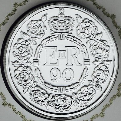 2016 UK Queen/'s 90th Birthday 20-pounds Pure Silver Brilliant Uncirculated Coin