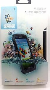 100-Original-Lifeproof-Nuud-Impermeable-funda-para-Samsung-Galaxy-S4-Negro