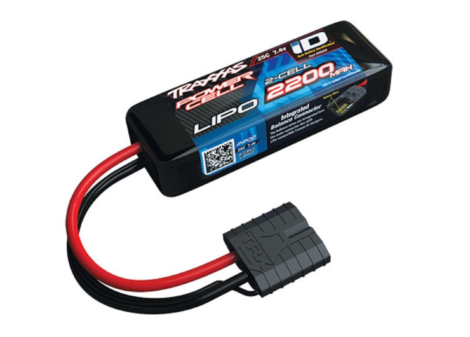 2200mAh 7.4v 2-Cell 25C LiPo Battery by Traxxas TRA2820x