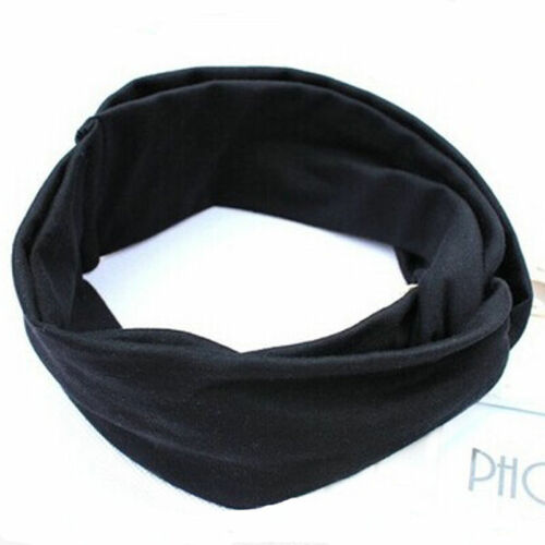 Women Cotton Turban Twist Head Knot Headband Wrap Twisted Knotted Hair Band//New