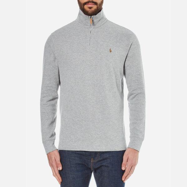 Polo Ralph Lauren Pullover Heather Grau Quarter Zip Sweater X-LARGE XL NWT 89.50