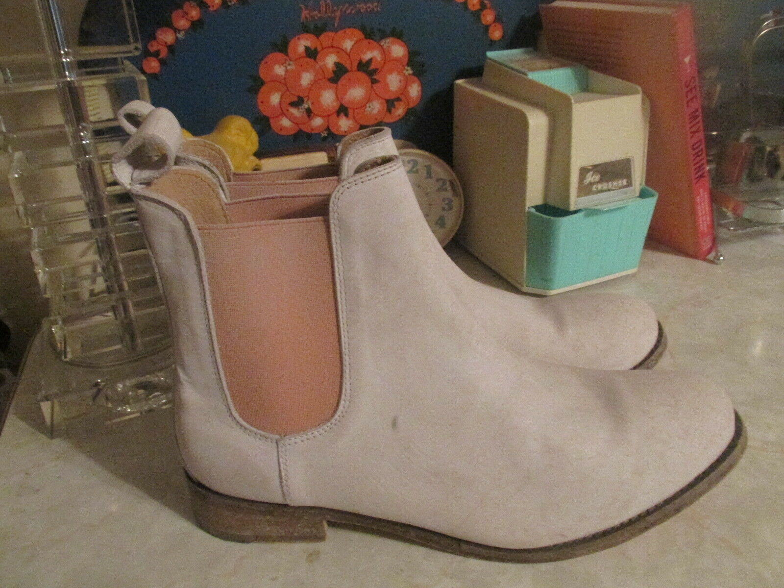 Free People x Faryl Robin MTN MTN MTN PEAK Chelsea Janice White   Leather Boot 11 NWOB ba5e04