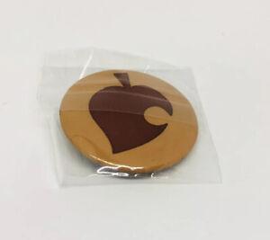Animal Crossing New Horizons Brown Leaf Badge Pin.