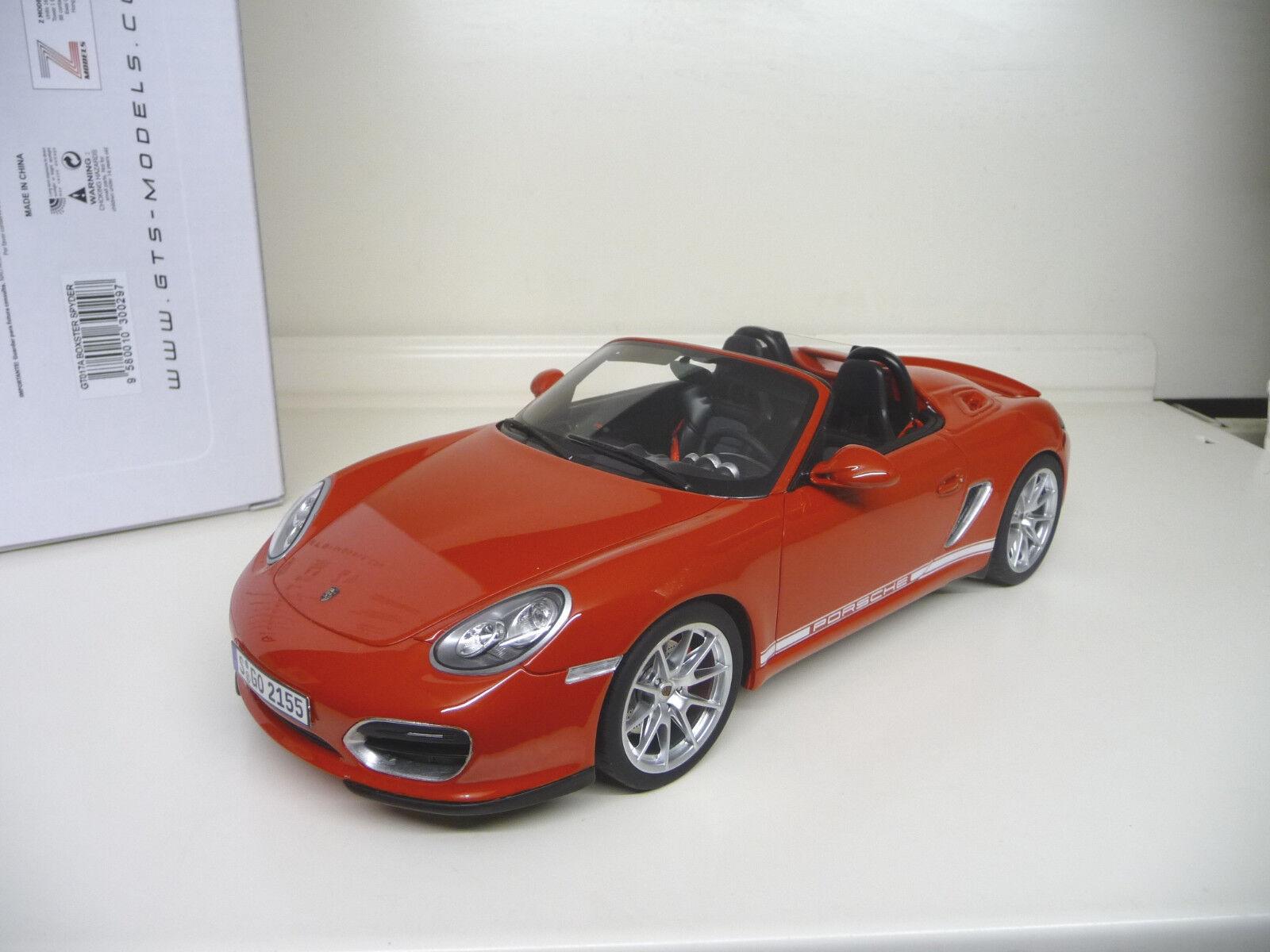 1:18 GT Spirit Porsche Boxster Spyder Spider rosso  SHIPPING FREE WORLWIDE