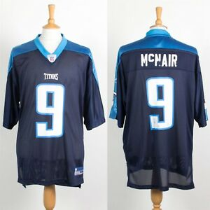 newest 721fb fbcac Details about MENS REEBOK NFL TENNESSEE TITANS JERSEY AMERICAN FOOTBALL  SHIRT MCNAIR #9 L
