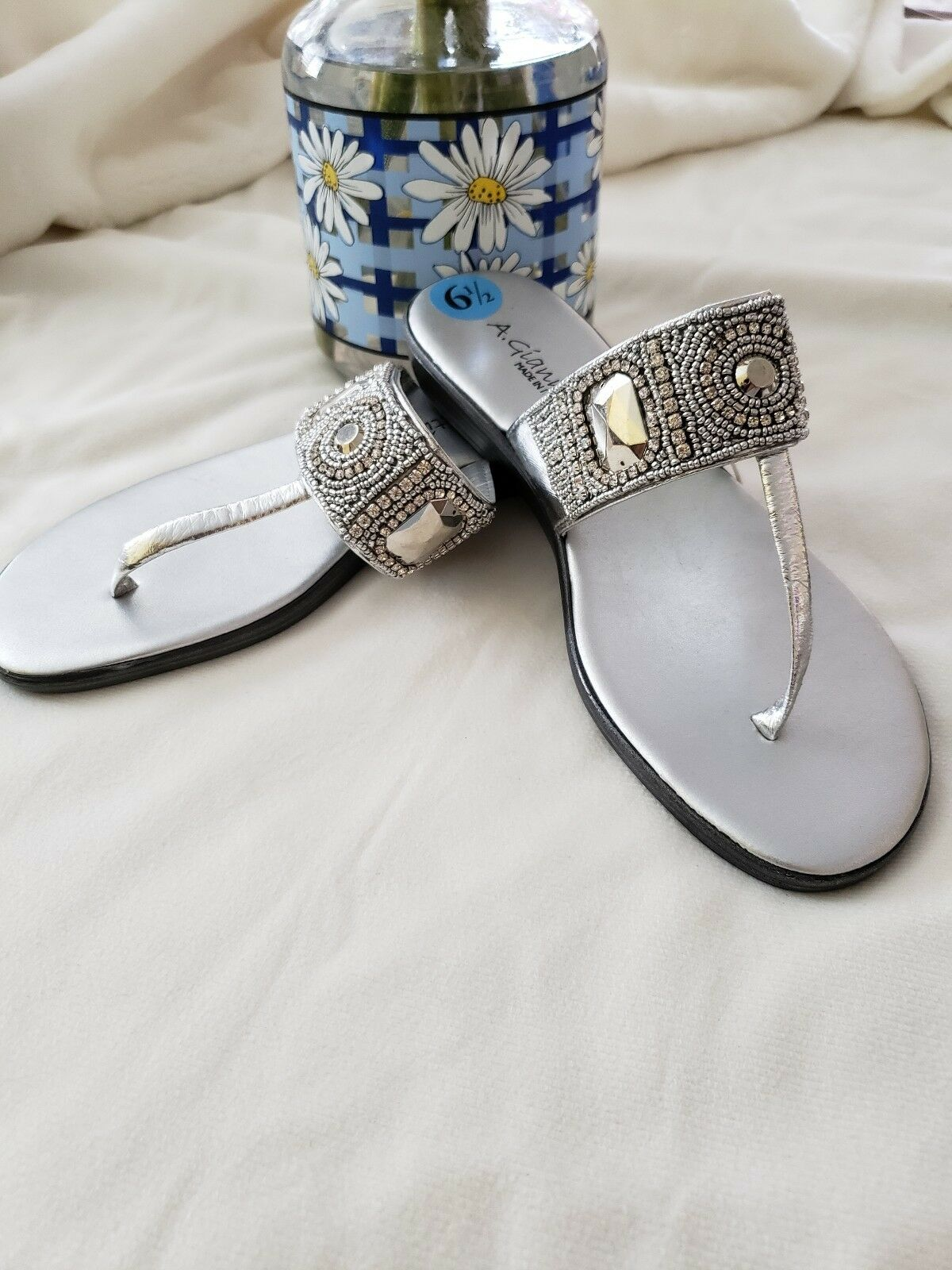 A giannetti sandals Made In  Size 8 New