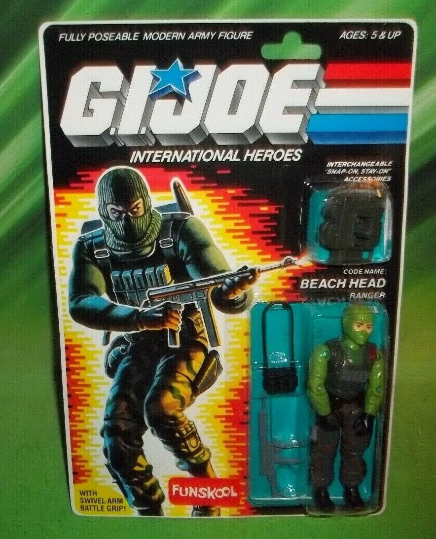 G I GI JOE INTERNATIONL HEROES ARMY RANGER BEACHHEAD FIGURE MOC RUSSIAN FUNSKOOL