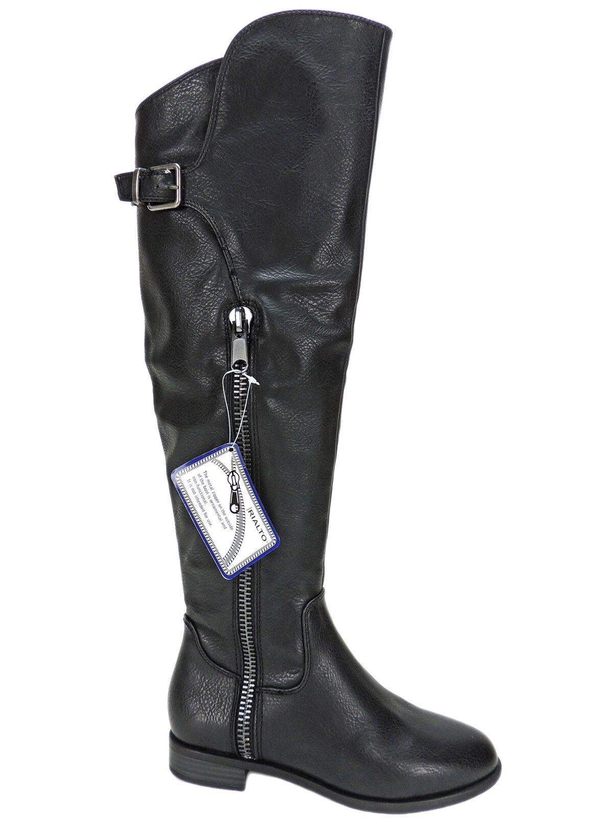 Rialto Mujer Primera fila informal informal informal sobre la rodilla botas Negras Talla 5 M  marca famosa