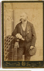 Vintage Cabinet Card Aristocratic French Gentleman Noble, Politician ?? Lauro Ph