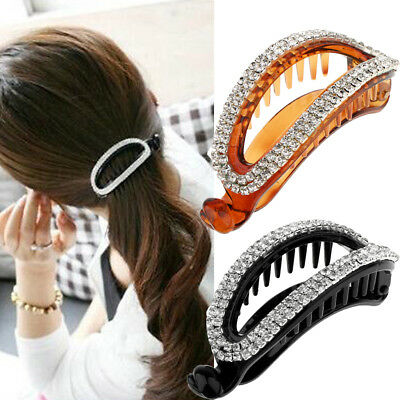 New Womens Glassy Effect Butterfly Hair Claw Clamps Clips Hair Accessories