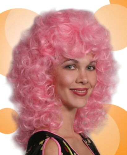 COLORFUL GYPSY PINK BLUE YELLOW RED PURPLE WOMAN CURLS CURLY COSTUME WIG 1467