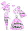 Personalised  Wedding engagement Couple Bride and Groom word art picture