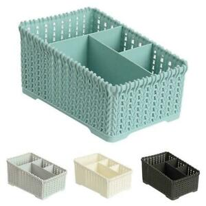 Plastic-Makeup-Holder-Bathroom-Desktop-Storage-Sundries-Basket-Organizer-We-O0U5
