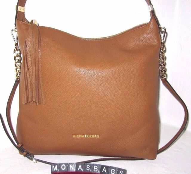 Michael Kors Acorn Leather Tassel Bedford Large Top Zip Tz Shoulder Bag Nwt 328