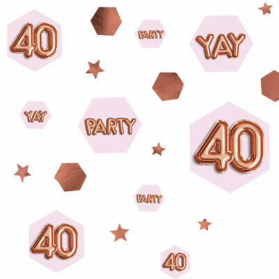 14g Happy Birthday Rose Gold Glitz Table Scatters Confetti Ladies Party Silver